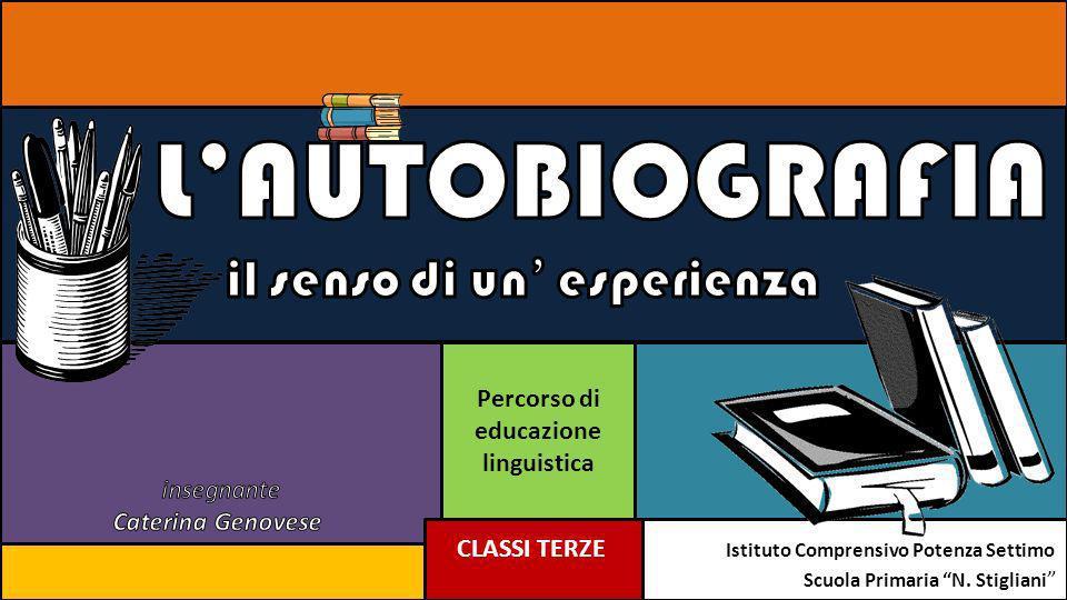 Percorso di educazione linguistica CLASSI TERZE Istituto Comprensivo Potenza Settimo Scuola Primaria N. Stigliani