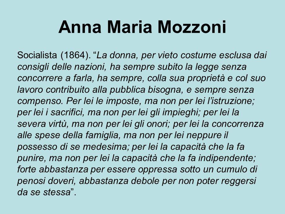 Anna Maria Mozzoni Socialista (1864).