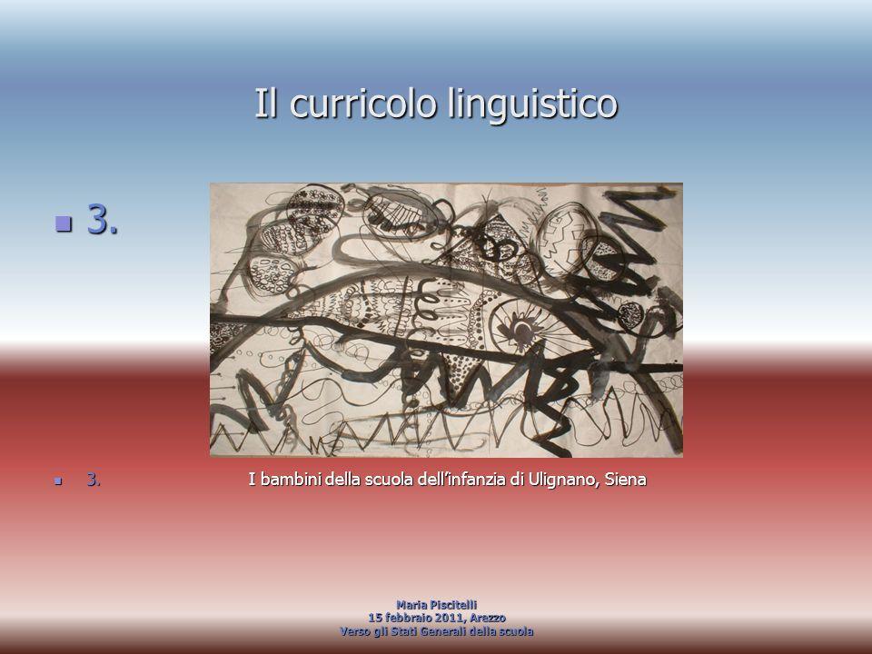 Il curricolo linguistico 3. 3. 3. I bambini della scuola dellinfanzia di Ulignano, Siena 3. I bambini della scuola dellinfanzia di Ulignano, Siena Mar