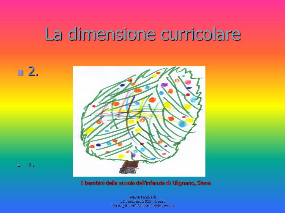 La dimensione curricolare 2. 2. I bambini della scuola dellinfanzia di Ulignano, Siena I bambini della scuola dellinfanzia di Ulignano, Siena Maria Pi