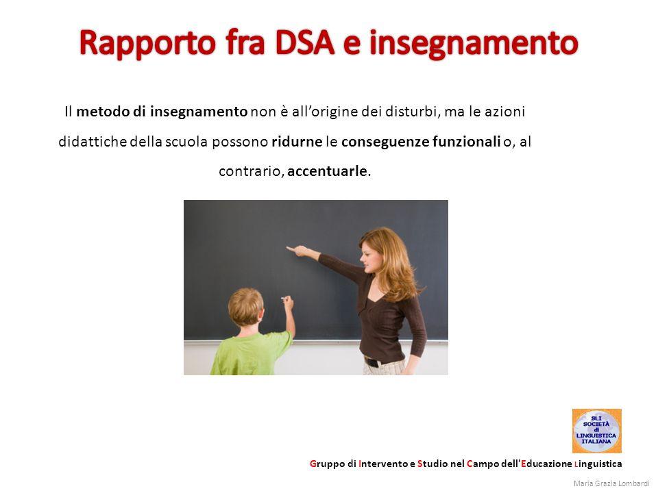 Il metodo di insegnamento non è allorigine dei disturbi, ma le azioni didattiche della scuola possono ridurne le conseguenze funzionali o, al contrari