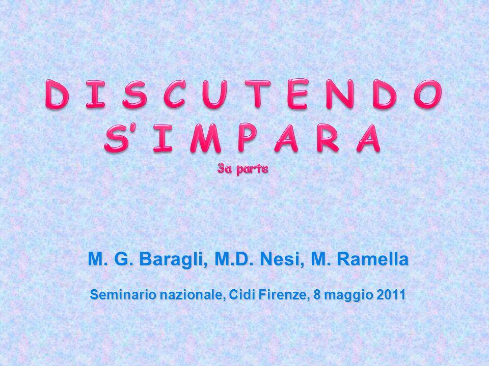 M. G. Baragli, M.D. Nesi, M. Ramella Seminario nazionale, Cidi Firenze, 8 maggio 2011