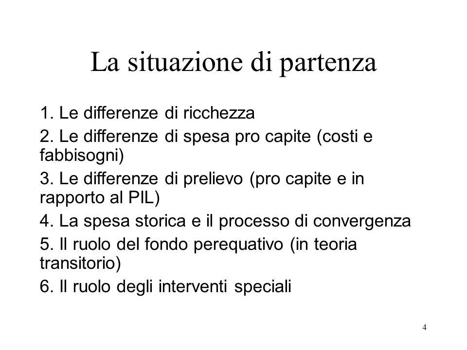4 La situazione di partenza 1. Le differenze di ricchezza 2.