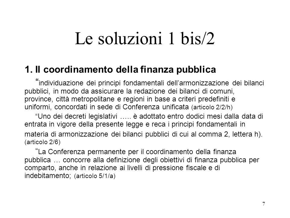 7 Le soluzioni 1 bis/2 1.