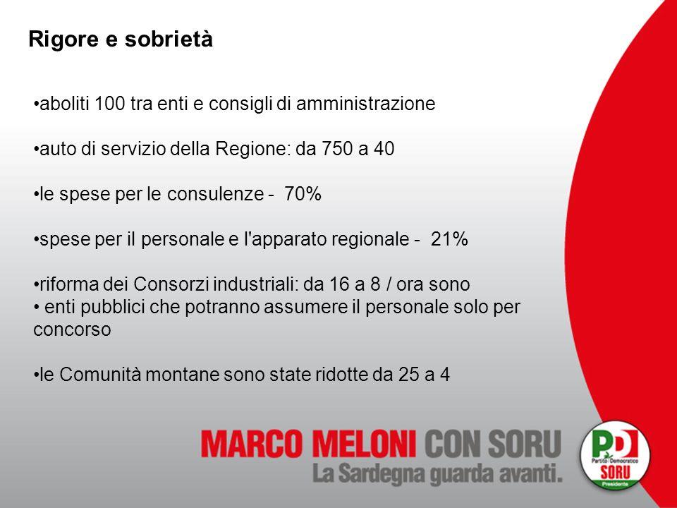 Rigore e sobrietà aboliti 100 tra enti e consigli di amministrazione auto di servizio della Regione: da 750 a 40 le spese per le consulenze - 70% spes