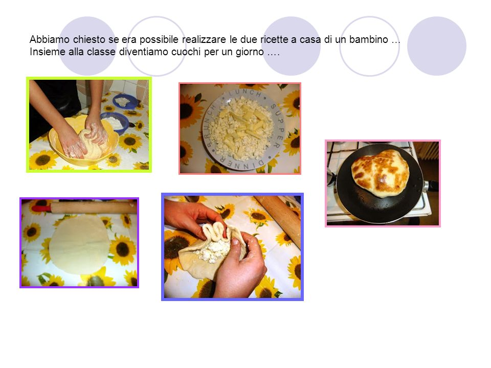 Abbiamo chiesto se era possibile realizzare le due ricette a casa di un bambino … Insieme alla classe diventiamo cuochi per un giorno ….