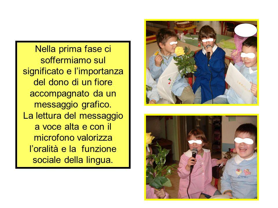 Con Fiori per dire e raccontare, a cinque anni, si cura, nel momento dei messaggi laspetto pragmatico della lingua.