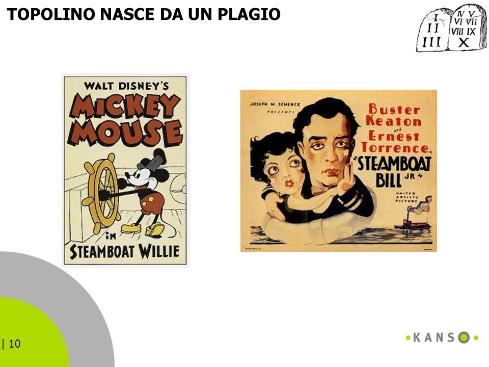 | 10 TOPOLINO NASCE DA UN PLAGIO