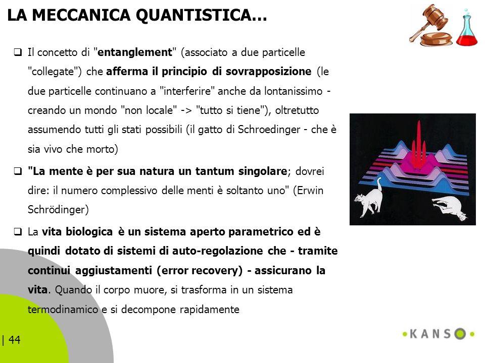 | 44 LA MECCANICA QUANTISTICA… Il concetto di