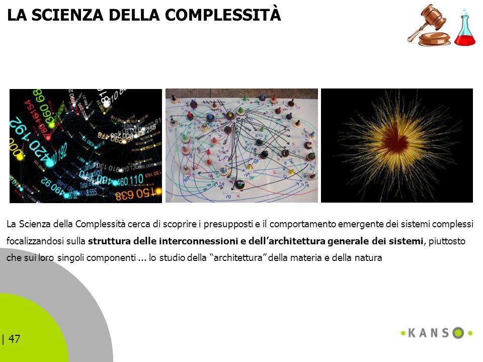 | 47 LA SCIENZA DELLA COMPLESSITÀ La Scienza della Complessità cerca di scoprire i presupposti e il comportamento emergente dei sistemi complessi foca