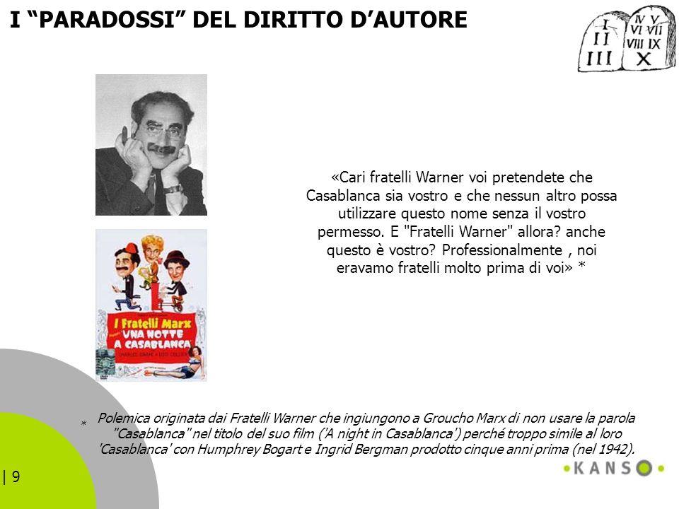 | 9 Polemica originata dai Fratelli Warner che ingiungono a Groucho Marx di non usare la parola
