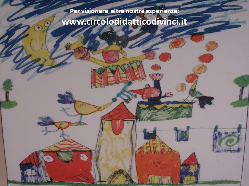 Per visionare altre nostre esperienze: www.circolodidatticodivinci.it