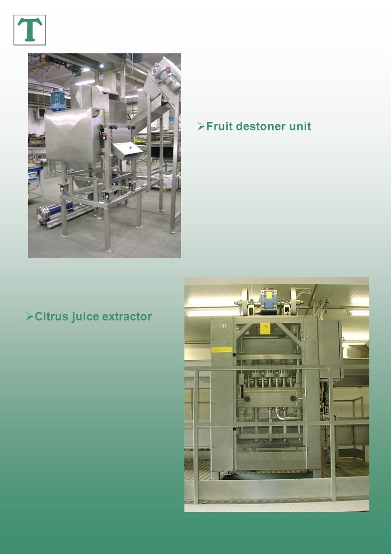 Fruit destoner unit Citrus juice extractor