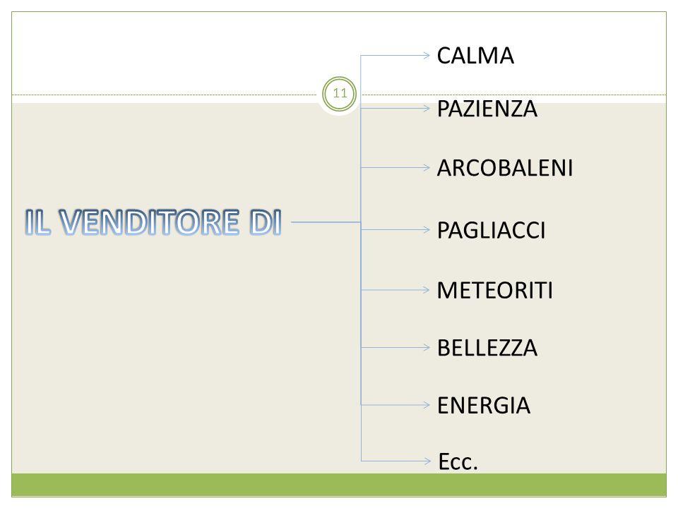 CALMA PAZIENZA ARCOBALENI PAGLIACCI ENERGIA METEORITI 11 Ecc. BELLEZZA