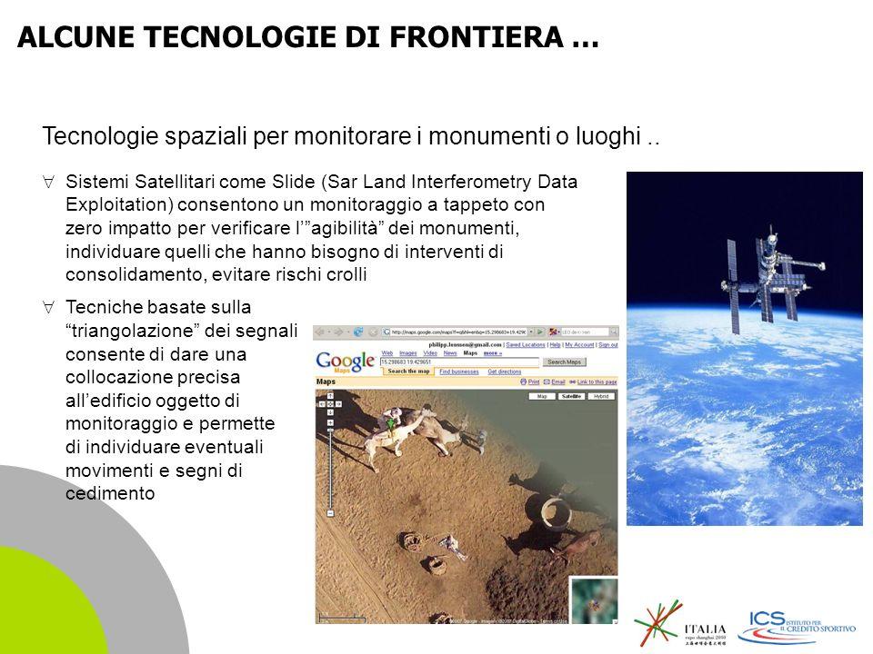 | 13 Tecnologie spaziali per monitorare i monumenti o luoghi..