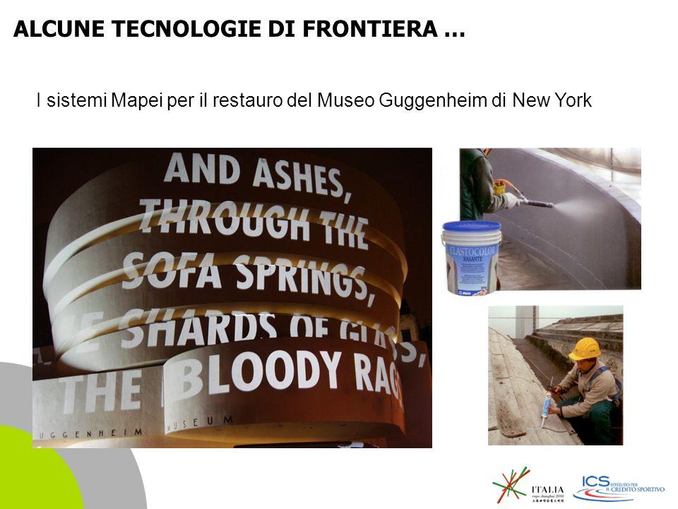 | 14 I sistemi Mapei per il restauro del Museo Guggenheim di New York ALCUNE TECNOLOGIE DI FRONTIERA …