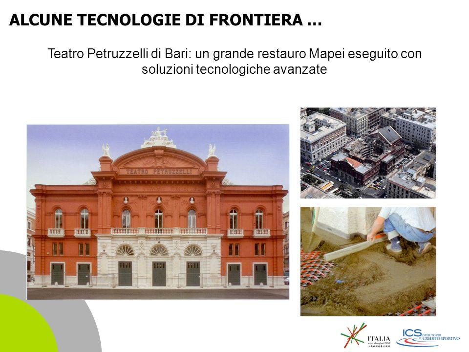 | 15 Teatro Petruzzelli di Bari: un grande restauro Mapei eseguito con soluzioni tecnologiche avanzate ALCUNE TECNOLOGIE DI FRONTIERA …