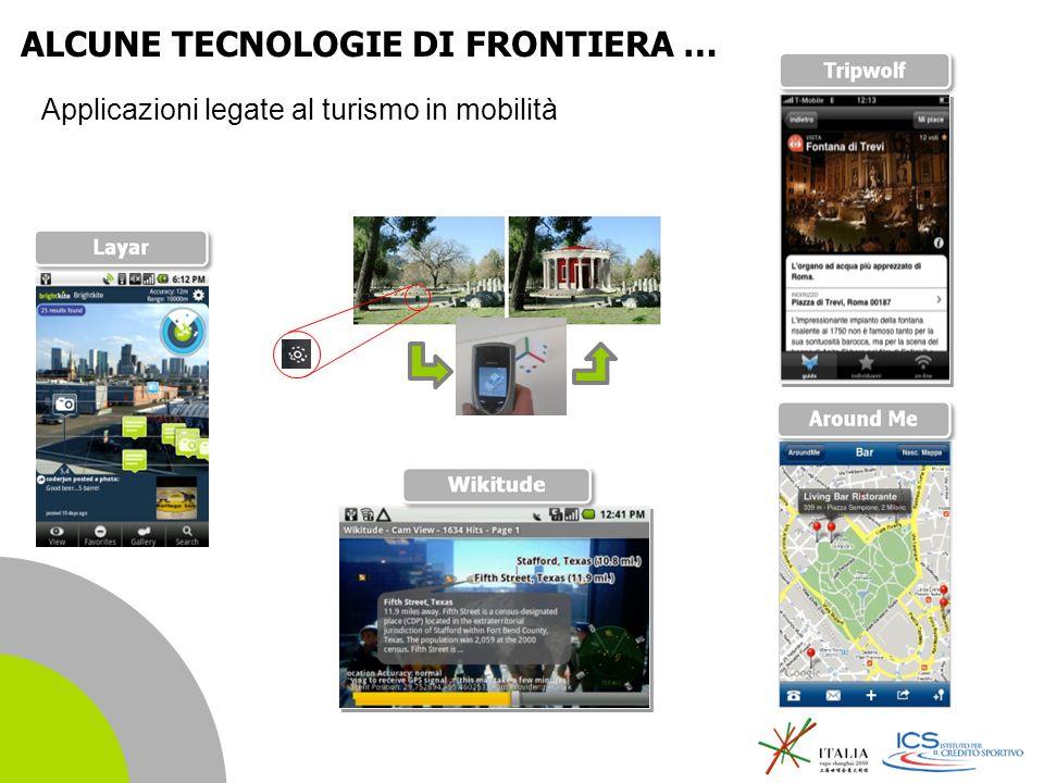| 23 Applicazioni legate al turismo in mobilità ALCUNE TECNOLOGIE DI FRONTIERA …