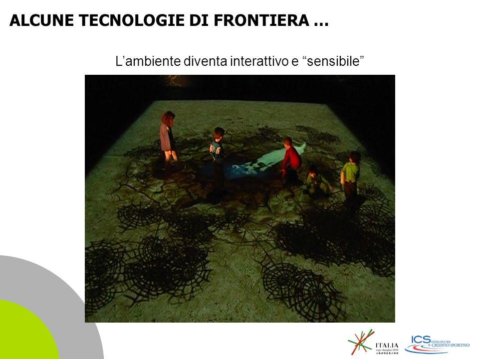 | 4 ALCUNE TECNOLOGIE DI FRONTIERA … Lambiente diventa interattivo e sensibile