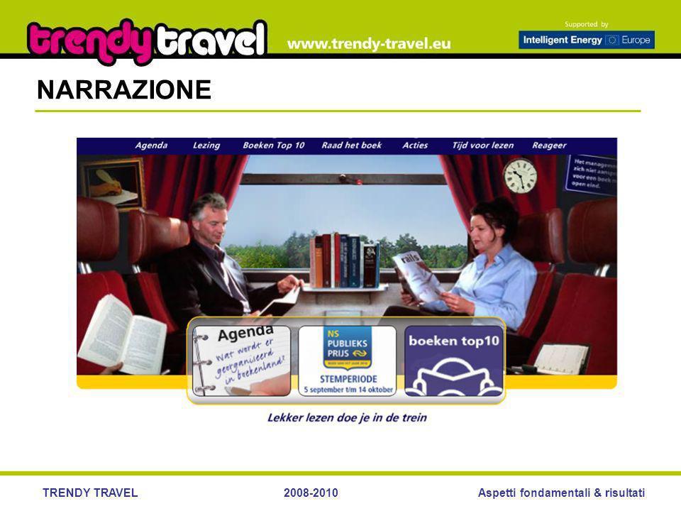 Aspetti fondamentali & risultatiTRENDY TRAVEL2008-2010 NARRAZIONE