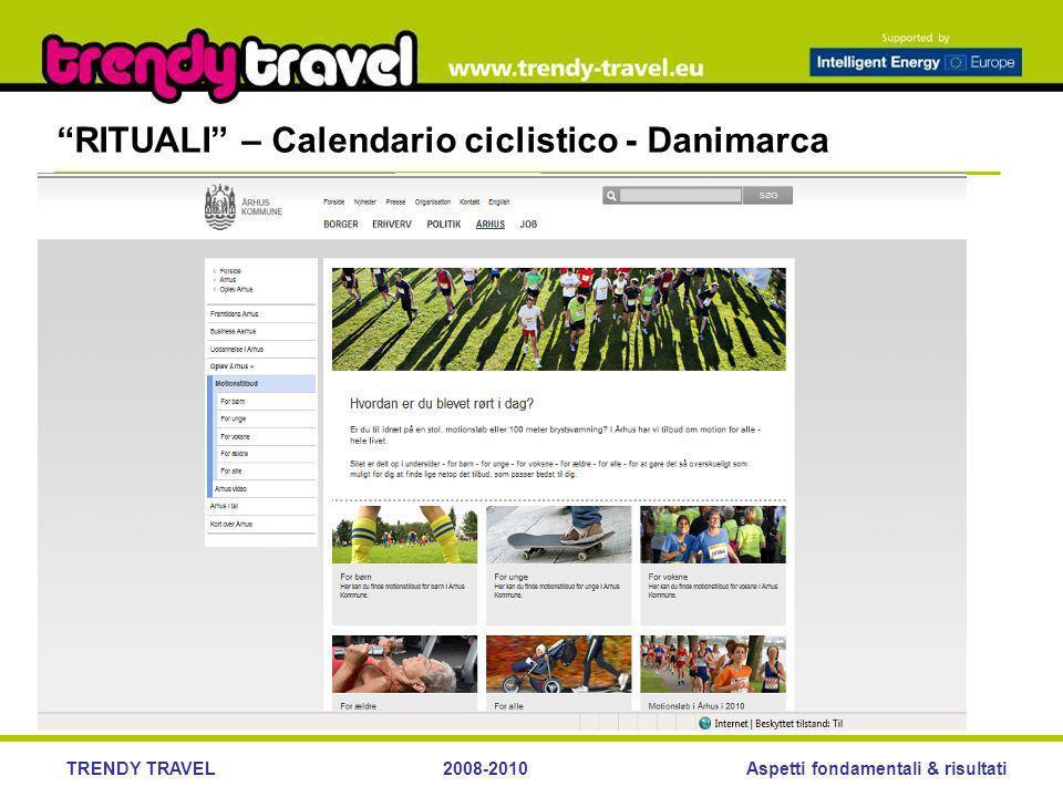 Aspetti fondamentali & risultatiTRENDY TRAVEL2008-2010 RITUALI – Calendario ciclistico - Danimarca