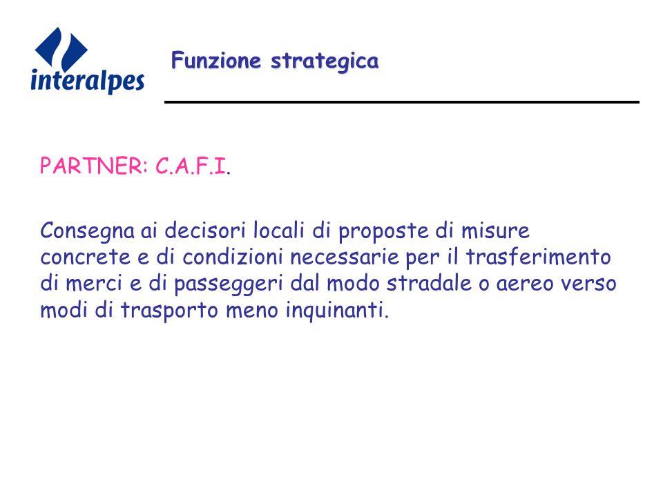 Funzione strategica PARTNER: C.A.F.I.