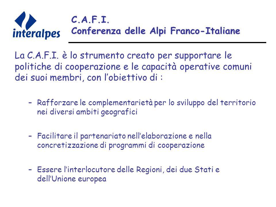 C.A.F.I. Conferenza delle Alpi Franco-Italiane La C.A.F.I.