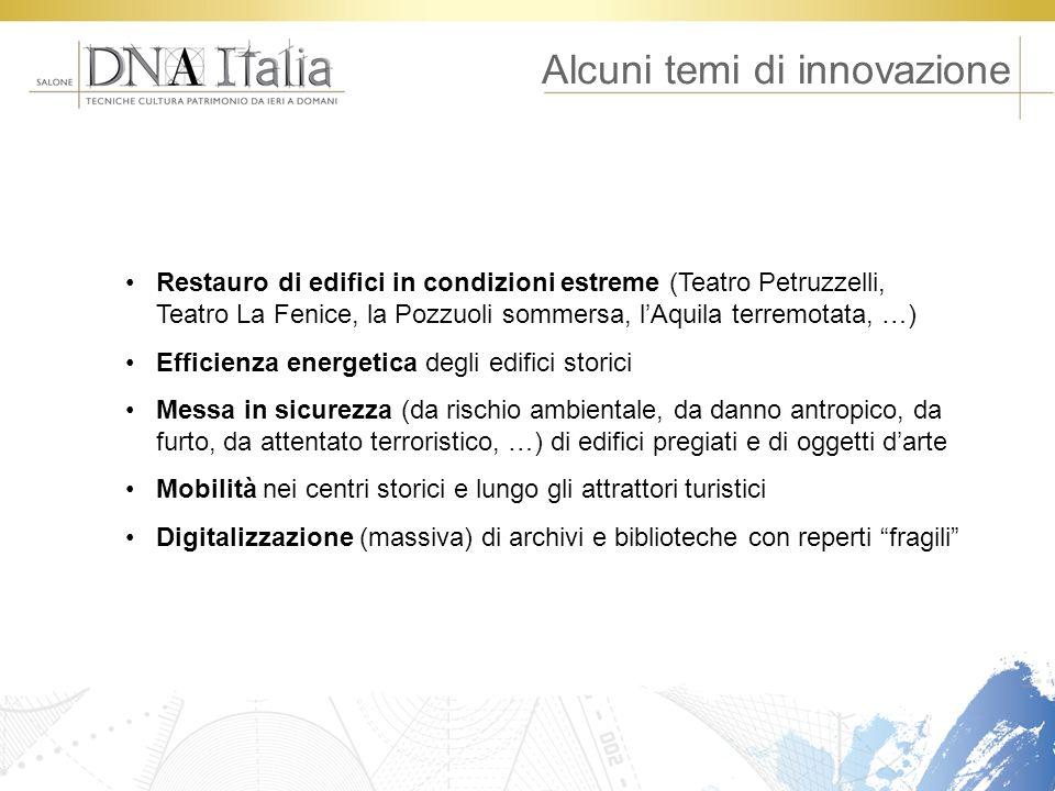Alcuni temi di innovazione Restauro di edifici in condizioni estreme (Teatro Petruzzelli, Teatro La Fenice, la Pozzuoli sommersa, lAquila terremotata,
