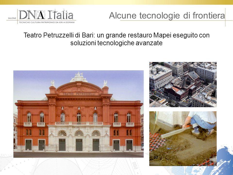 Alcune tecnologie di frontiera Teatro Petruzzelli di Bari: un grande restauro Mapei eseguito con soluzioni tecnologiche avanzate