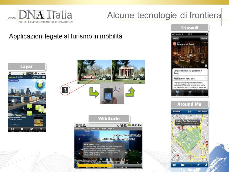 Alcune tecnologie di frontiera Applicazioni legate al turismo in mobilità