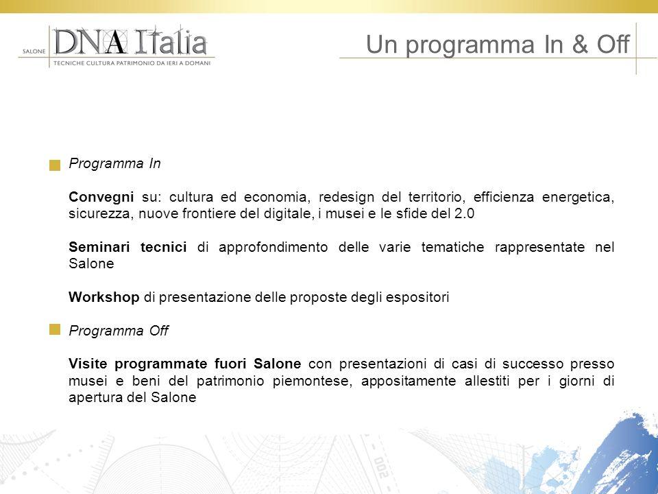 Programma In Convegni su: cultura ed economia, redesign del territorio, efficienza energetica, sicurezza, nuove frontiere del digitale, i musei e le s