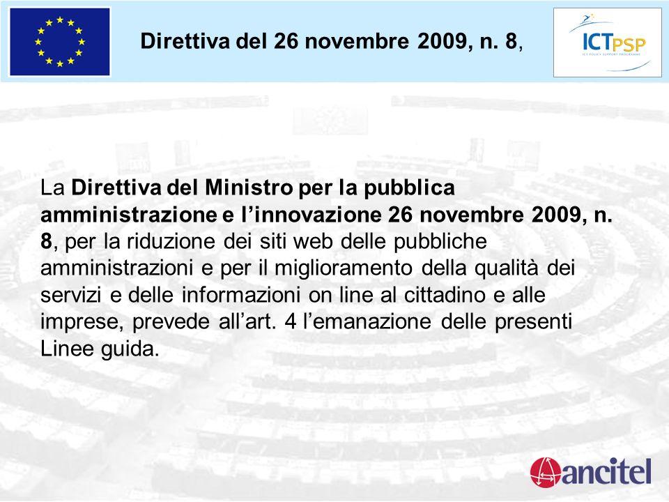 Direttiva del 26 novembre 2009, n. 8, La Direttiva del Ministro per la pubblica amministrazione e linnovazione 26 novembre 2009, n. 8, per la riduzion