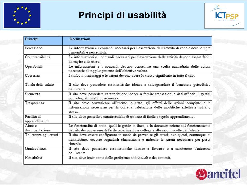 Principi di usabilità