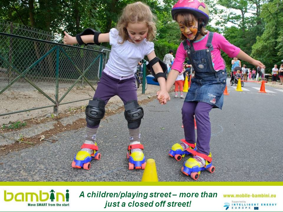 A children/playing street – more than just a closed off street!