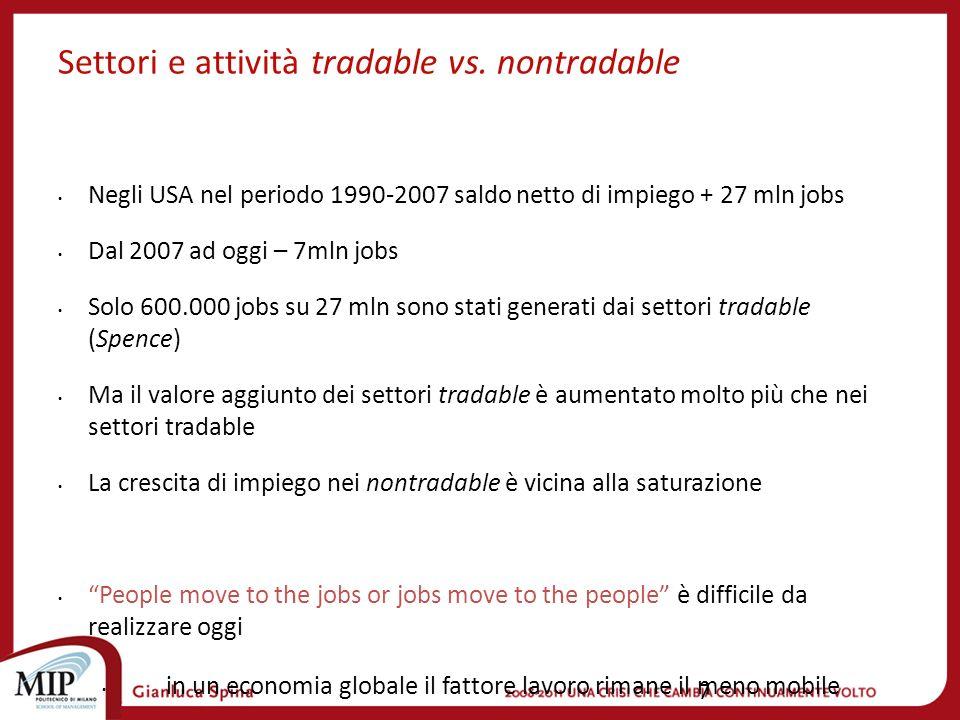 7 Settori e attività tradable vs.