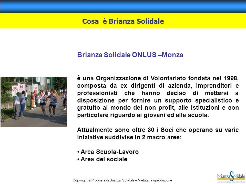 Copyright & Proprietà di Brianza Solidale – Vietata la riproduzione Cosa è Brianza Solidale Brianza Solidale ONLUS –Monza è una Organizzazione di Volo