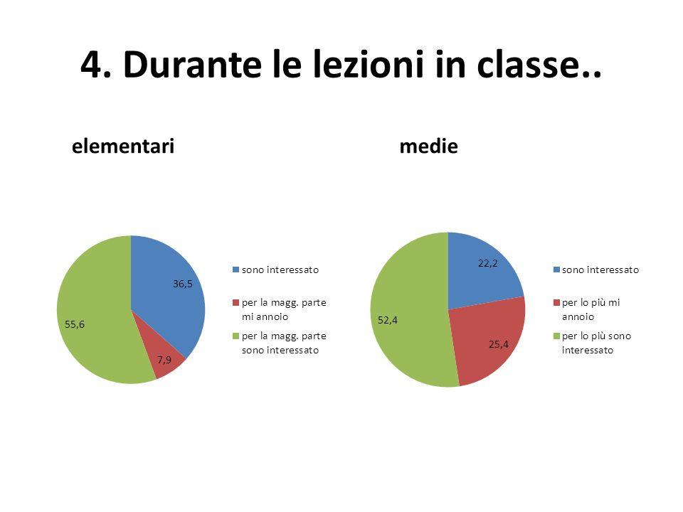 5. Durante le lezioni in classe.. elementari medie