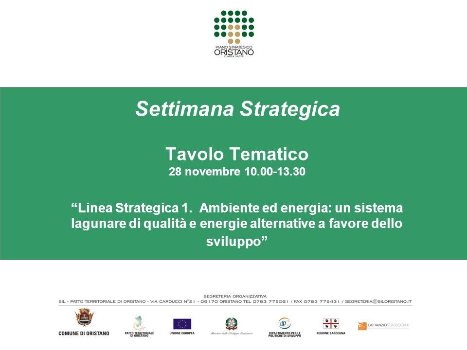Settimana Strategica Tavolo Tematico 28 novembre 10.00-13.30 Linea Strategica 1.