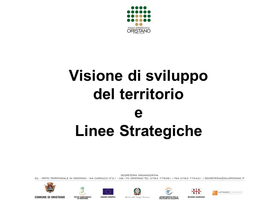 Visione di sviluppo del territorio e Linee Strategiche