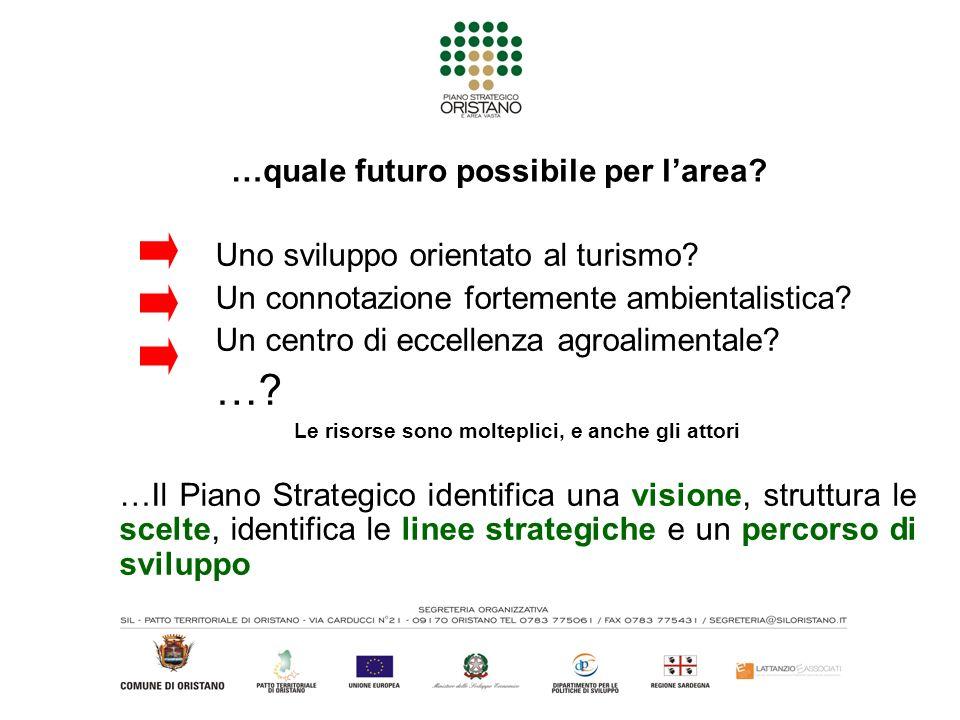…quale futuro possibile per larea. Uno sviluppo orientato al turismo.