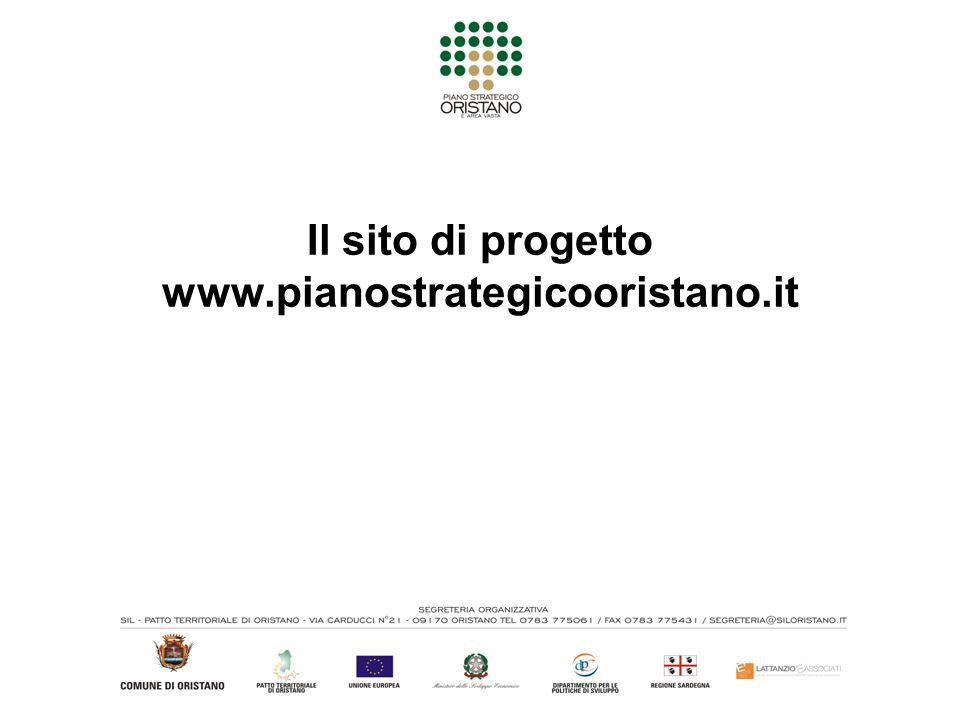 Il sito di progetto www.pianostrategicooristano.it
