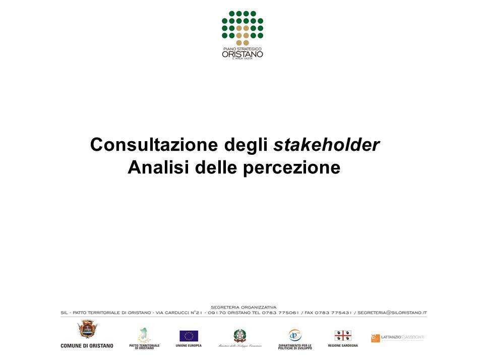 Consultazione degli stakeholder Analisi delle percezione