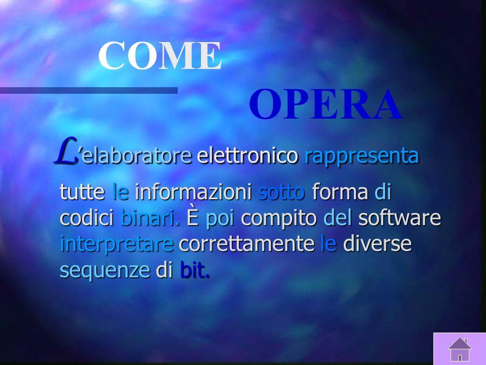 S IGNIFICATO DI E LAB O RATOR e L elaboratore è un automa programmabile: L elaboratore è un automa programmabile: È un automa in quanto e un sistema d