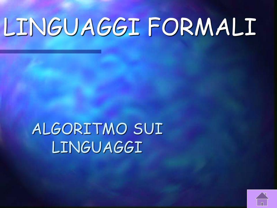 I LIGUAGGI A Utilizzano espressioni sintattiche proprie dei linguaggi naturali, solitamente sono espressi in inglese. Soprattutto quelli più moderni f