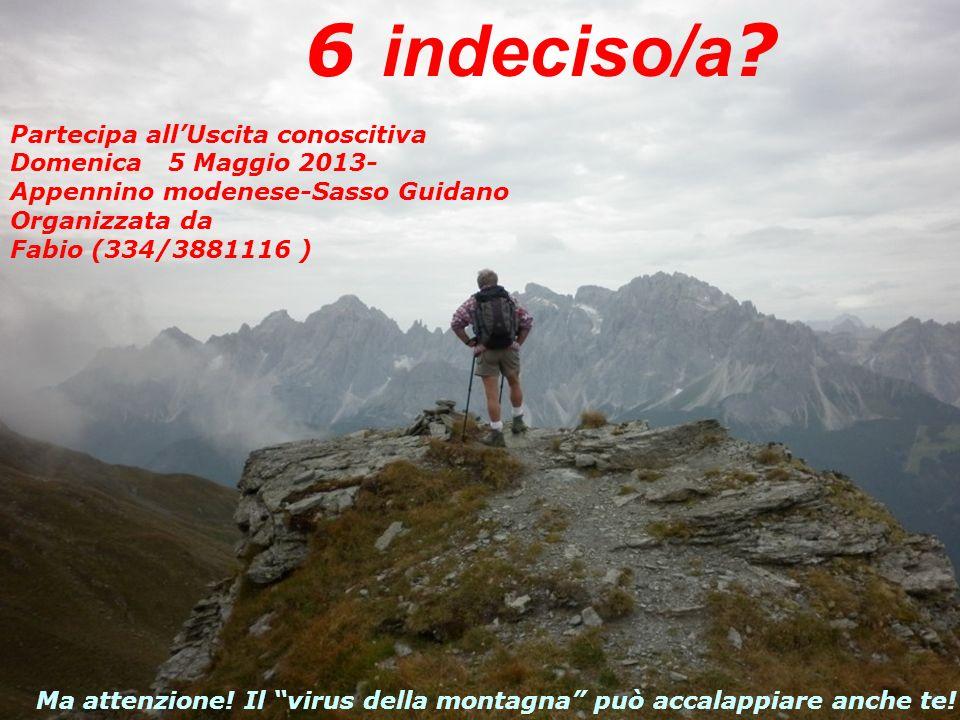 Partecipa allUscita conoscitiva -Domenica 01 Maggio 2011- Appennino… in Osteria!!.