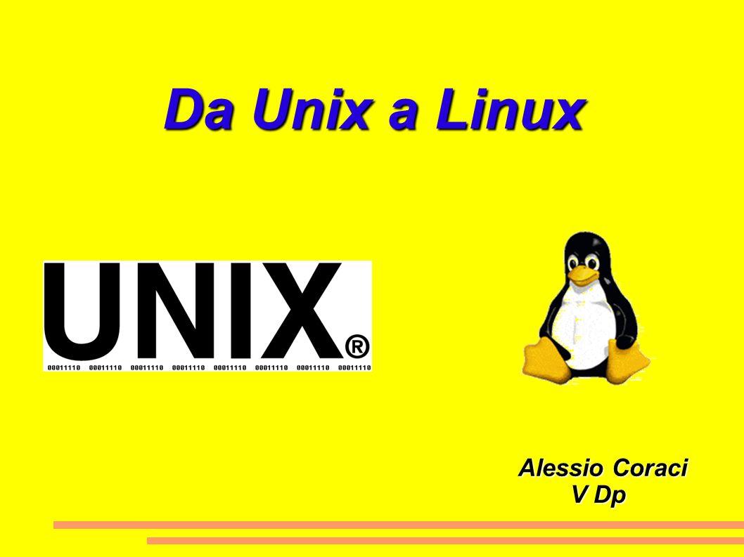 Da Unix a Linux Alessio Coraci Alessio Coraci V Dp