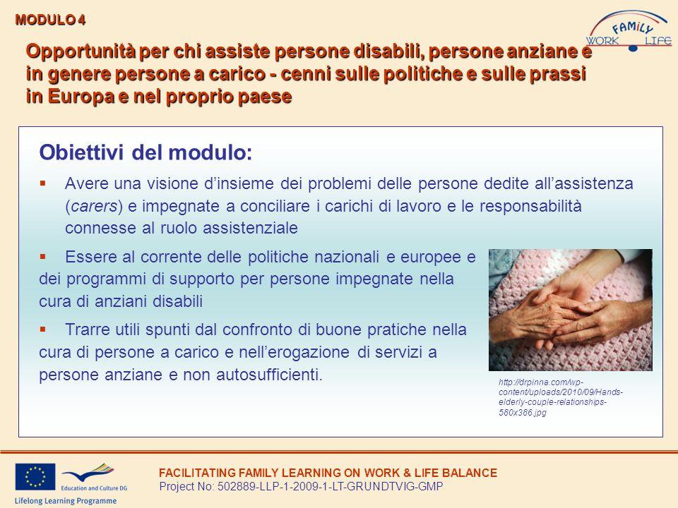 Limportanza in Europa dellassistenza a persone a carico: disabili e anziane.