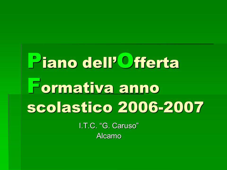 P iano dell O fferta F ormativa anno scolastico 2006-2007 I.T.C. G. Caruso Alcamo
