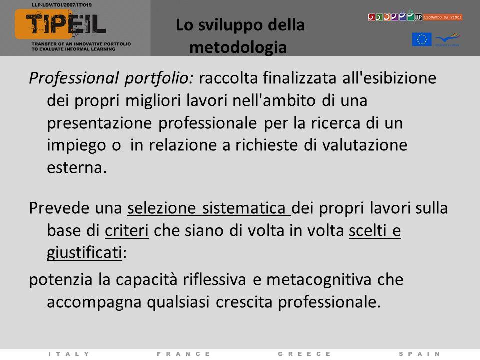 Lo sviluppo della metodologia Professional portfolio: raccolta finalizzata all'esibizione dei propri migliori lavori nell'ambito di una presentazione