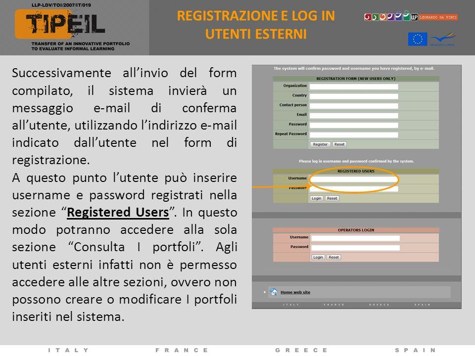 Successivamente allinvio del form compilato, il sistema invierà un messaggio e-mail di conferma allutente, utilizzando lindirizzo e-mail indicato dall